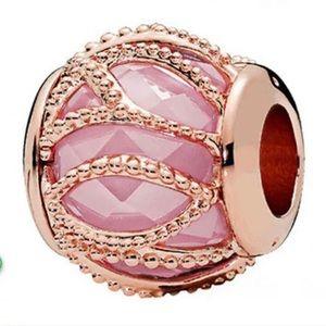 Pink Intertwining Charm For Pandora Bracelet